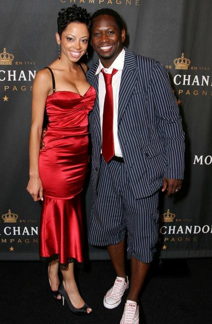 Guy Torry and wife Monica Askew at the 2007 BET Awards after party.
