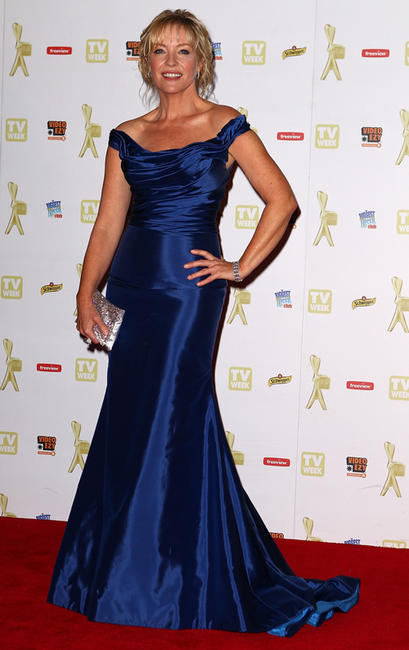 Rebecca Gibney at the 52nd TV Week Logie Awards in Australia.