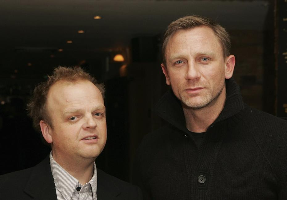 Toby Jones and Daniel Craig at the UK premiere of
