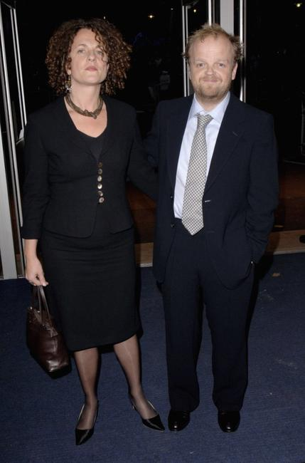 Toby Jones and guest at the premiere of