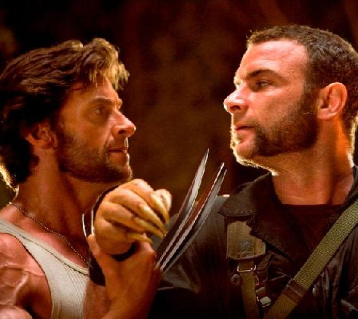 Hugh Jackman as Logan and Liev Schreiber as Victor Creed in