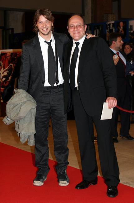 Silvio Muccino and Carlo Verdone at the Italian Film Academy's 50th David di Donatello Awards Ceremony.