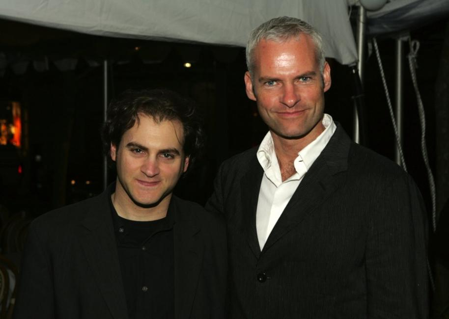 Michael Stuhlbarg and Martin McDonagh at the after party of the Broadway opening of