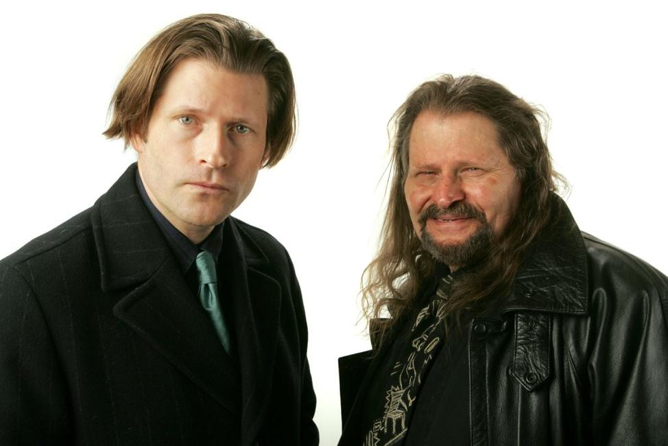Bruce Glover and his son Crispin Glover at the 2007 Sundance Film Festival.
