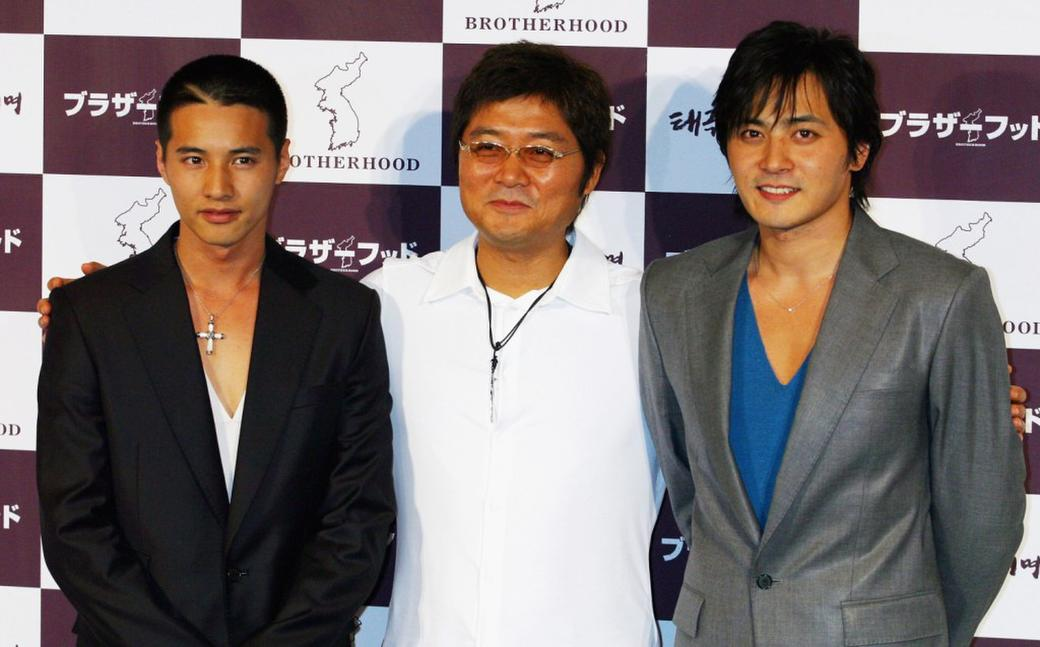 Won Bin, Kang Je-Gyu and Jang Dong-gun at the press conference of