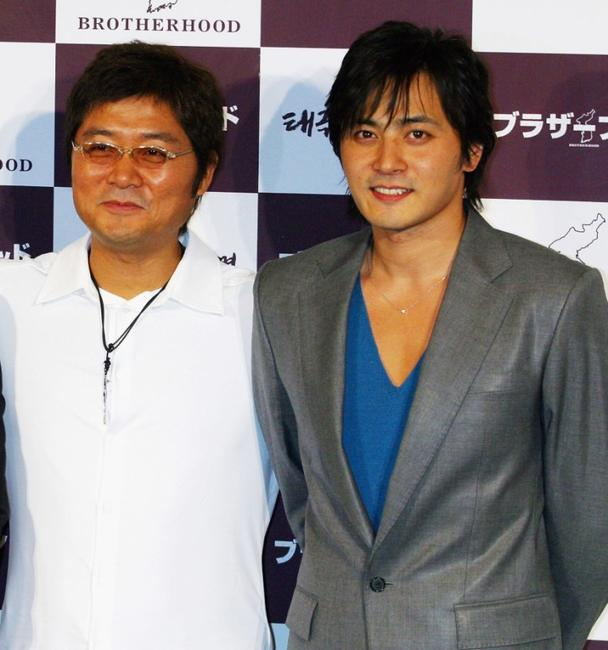 Kang Je-Gyu and Jang Dong-gun at the press conference of