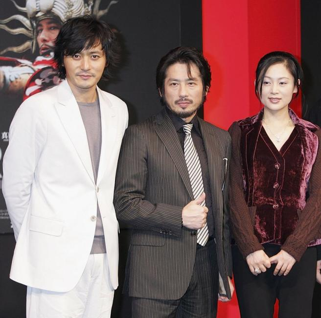 Jang Dong-gun, Hiroyuki Sanada and Chen Hong at the press conference of