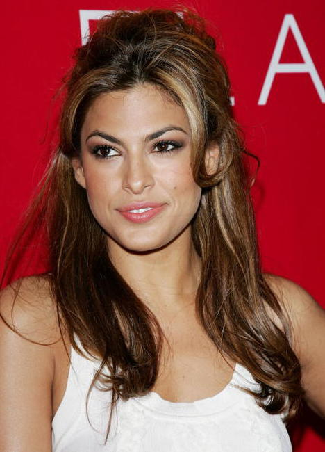 Eva Mendes at the Flair Fragrance launch at Mr. Chow Tribeca.