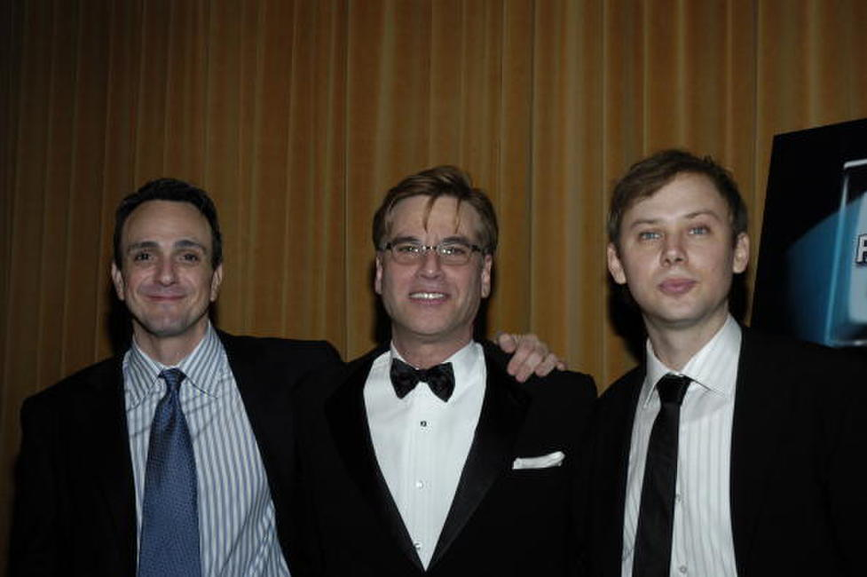 Hank Azaria, Aaron Sorking and Jimmi Simpson at the