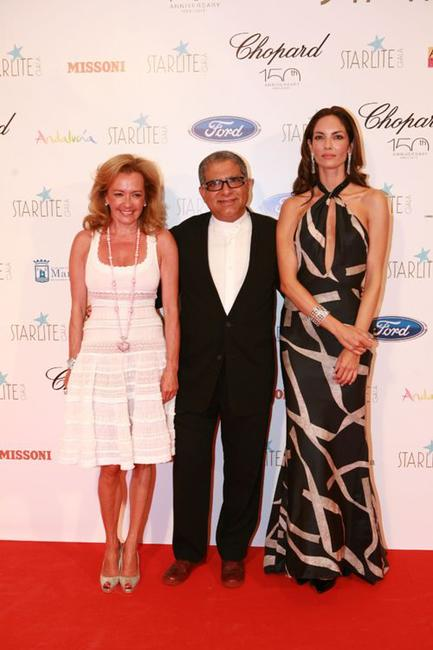 Caroline Gruosi, Deepak Chopra and Eugenia Silva at the Starlite Gala in Spain.