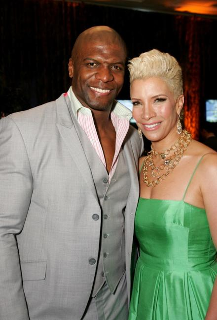 Terry Crews and Rebecca Crews at the Mercedes-Benz Oscar viewing party.