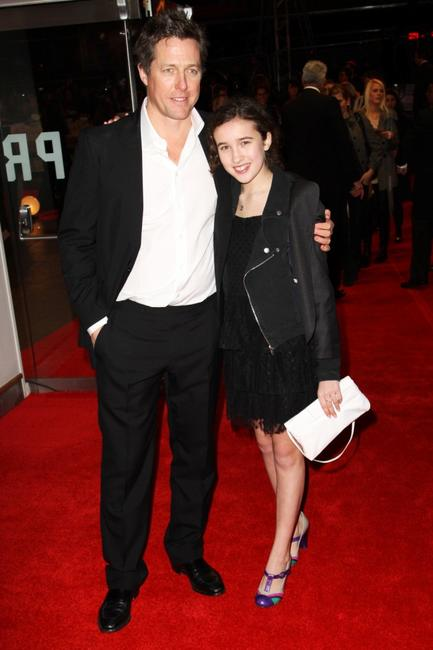 Hugh Grant and Gracie Lawrence at the London premiere of