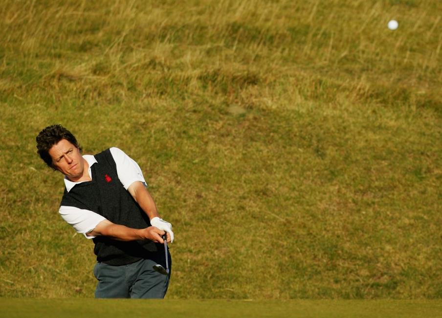 Hugh Grant at the The Alfred Dunhill Links Championship.
