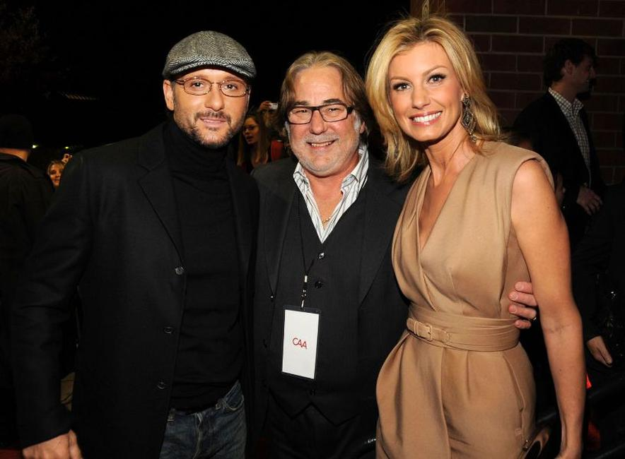 Tim McGraw, Rod Essig and Faith Hill at the Nashville premiere of