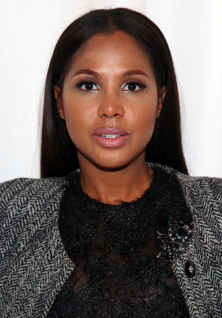 Toni Braxton at the Cynthia Rowley fall 2012 fashion show during the Mercedes-Benz Fashion Week in New York.