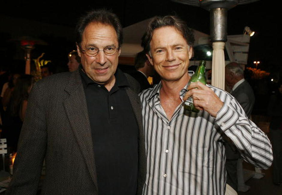 Bruce Greenwood and David Milch at the after-party for the LA premiere of
