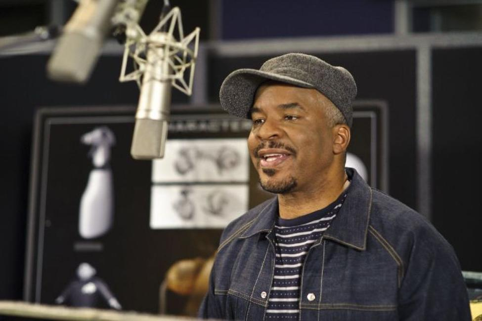 David Alan Grier on the set of
