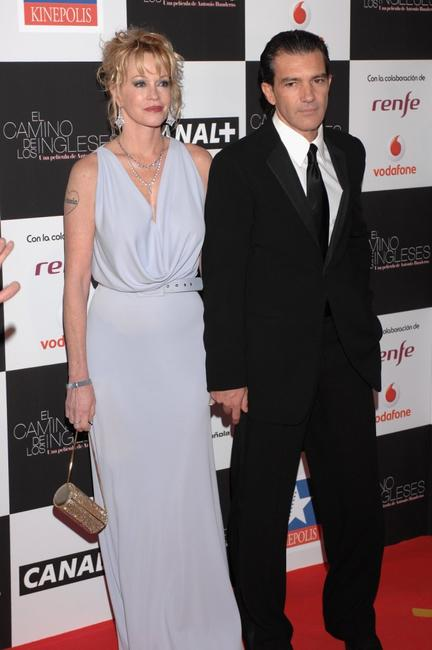 Melanie Griffith and Antonio Banderas at the premiere of