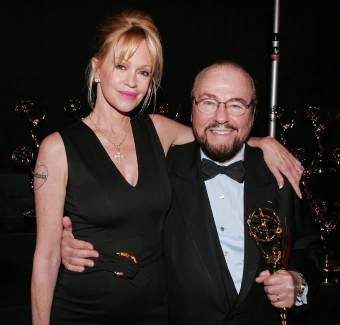 Melanie Griffith and James Lipton at the 34th Annual Daytime Creative Arts and Entertainment Emmy Awards.