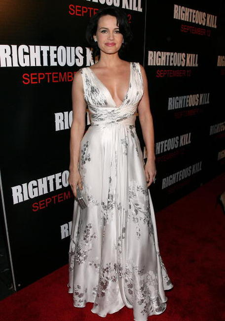 Actress Carla Gugino at the N.Y. premiere of