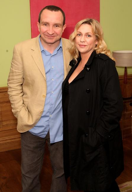 Eddie Marsan and Guest at the celebrity screening of