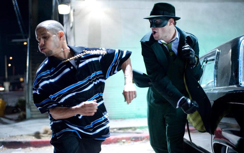 A scene from 'The Green Hornet.'