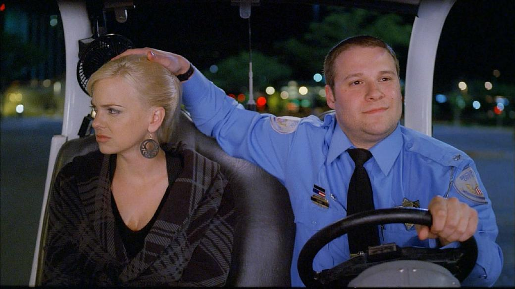 Anna Faris as Brandi and Seth Rogen as Ronnie in