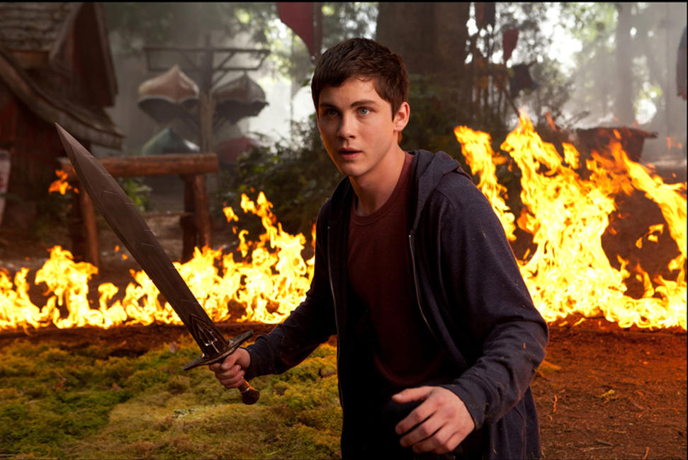 Logan Lerman as Percy Jackson in