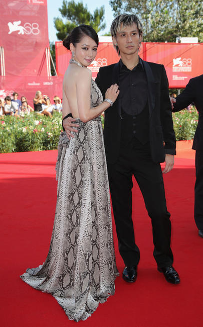 Vivian Hsu and Ando Masanobu at the premiere of