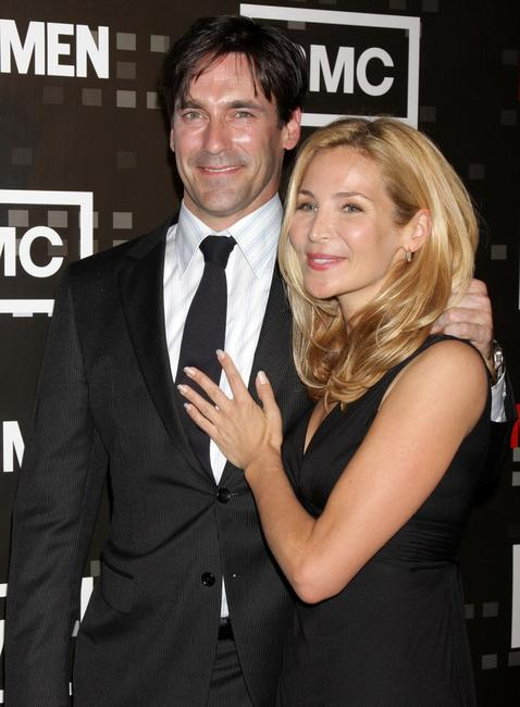 Jon Hamm and Jennifer Westfeldt at the screening of