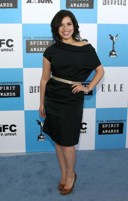 America Ferrera at the 22nd Annual Film Independent Spirit Awards in Santa Monica, California.