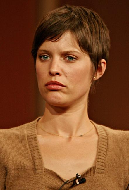 Audrey Marie Anderson at the CBS executive question and answer segment of Television Critics Association Press Tour.
