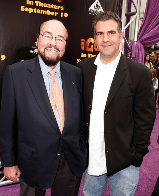 James Lipton and John Eraklis at the premiere of