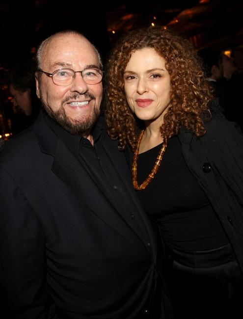 James Lipton and Bernadette Peters at the after party of