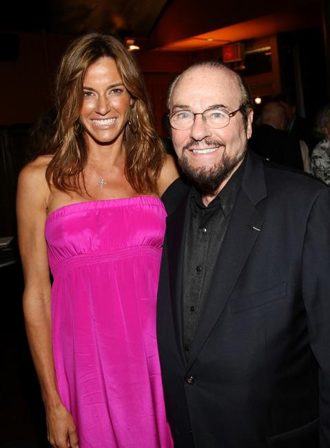 Kelly Bensimon and James Lipton at the party of