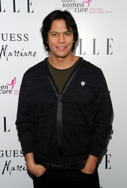 Chaske Spencer at the Guess by Marciano and ELLE event benefiting the Susan G. Komen Foundation.