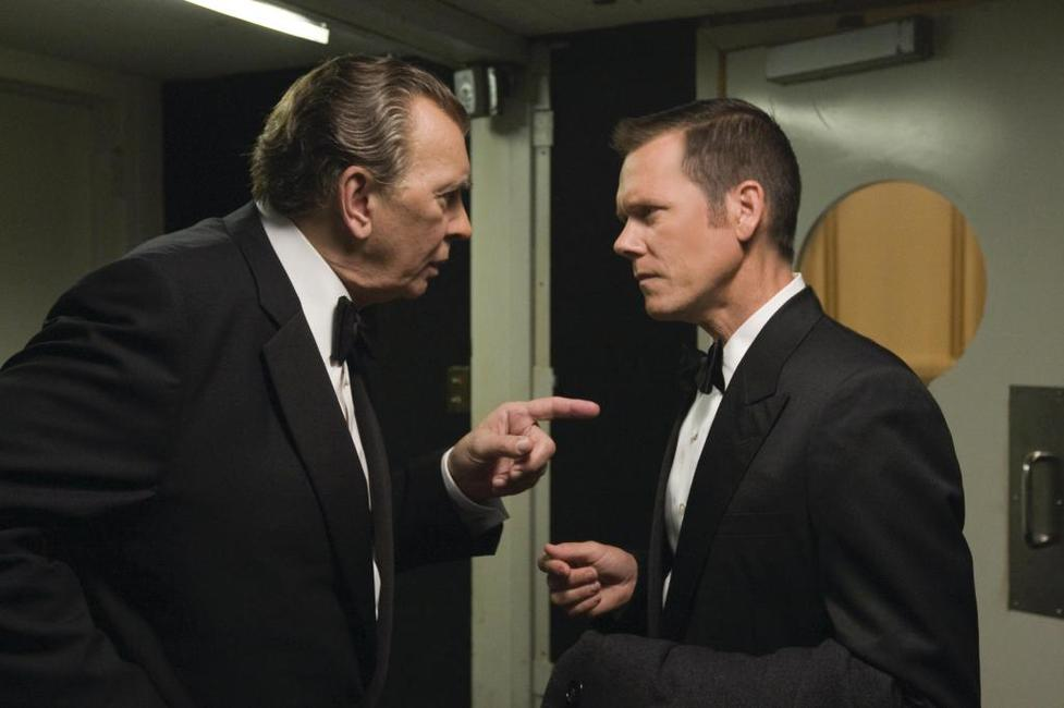 Frank Langella as Richard Nixon and Kevin Bacon as Colonel Jack Brennan in