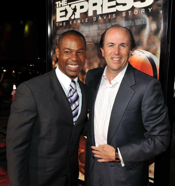 Darrin Dewitt Henson and Producer John Davis at the premiere of