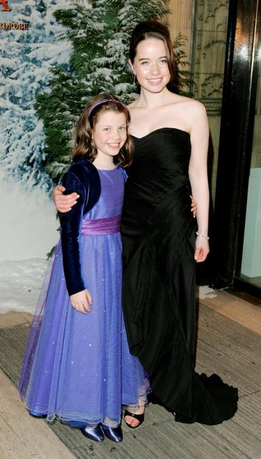 Georgie Henley and Anna Popplewell at the Royal Film Performance and world premiere of