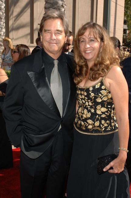 Beau Bridges and wife Wendy Bridges at the 2007 Creative Arts Emmy Awards.