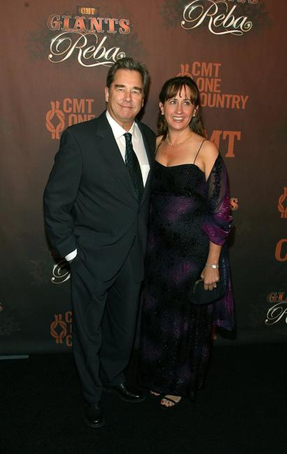 Beau Bridges and wife Wendy Treece Bridges at the CMT Giants honoring Reba McEntire.