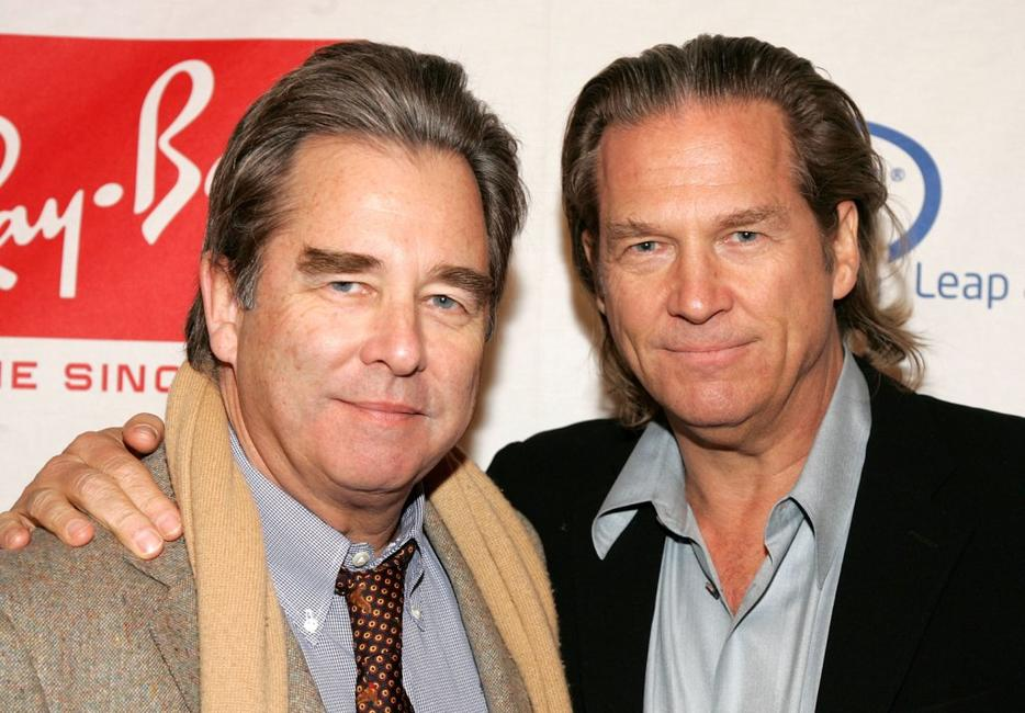 Beau Bridges and Jeff Bridges at the Hollywood Entertainment Museum Annual Awards.