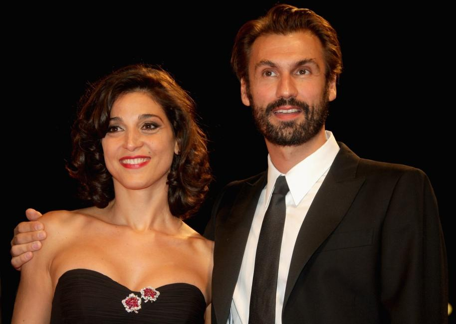 Donatella Finocchiaro and Fabrizio Gifuni at the premiere of