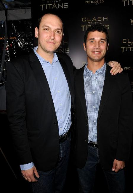 Louis Leterrier and Ramin Djawadi at the premiere of