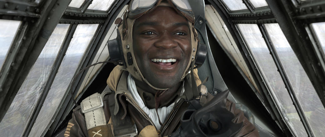 David Oyelowo as Joe 'Lightning' Little in Red Tails.
