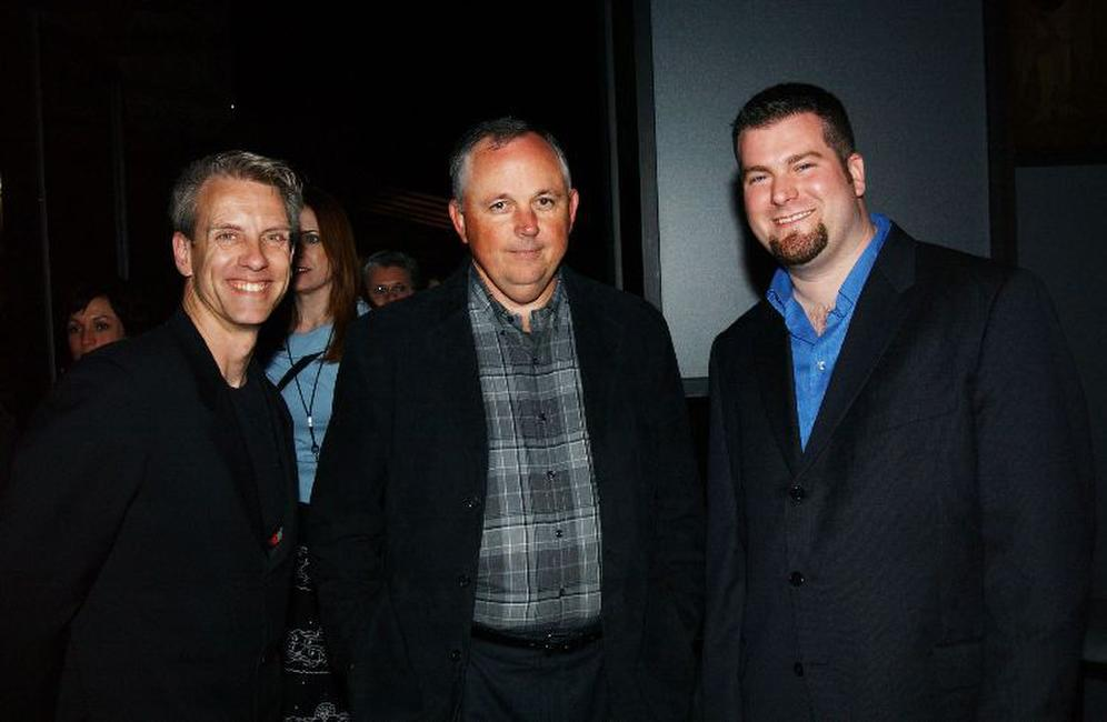 Chris Sanders, Dick Cook and Dean DeBlois at the after party of the premiere of
