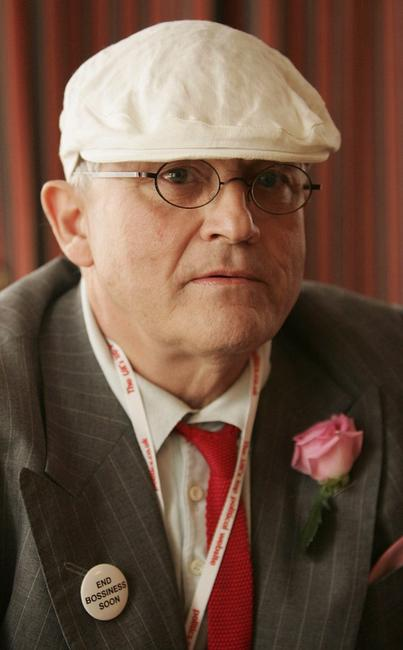 David Hockney at the Labour Party conference in Brighton.