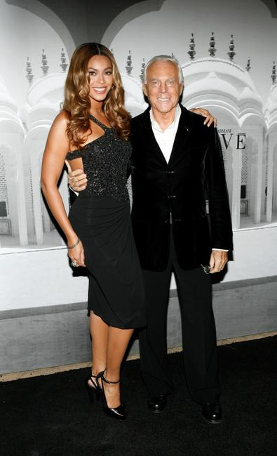 Beyonce Knowles and Giorgia Armani at the