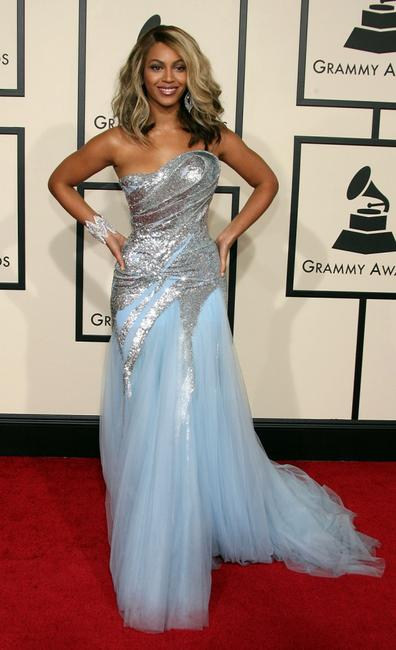 Beyonce Knowles at the 50th annual Grammy awards.