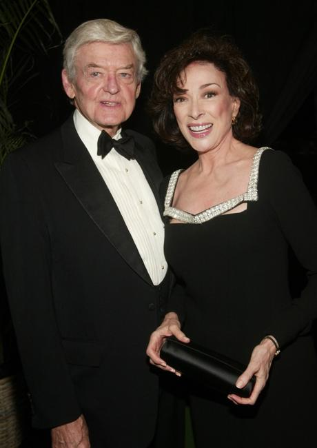 Hal Holbrook and Dixie Carter at the cocktail party for the 'CBS at 75' television gala at the Hammerstein Ballroom in New York City.
